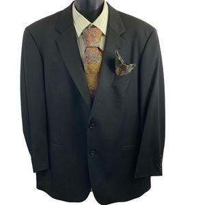 BOSS Hugo Boss Black Sport Coat Size 44R 2 Button